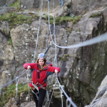 Via Ferrata Infinity Bridge at Honister