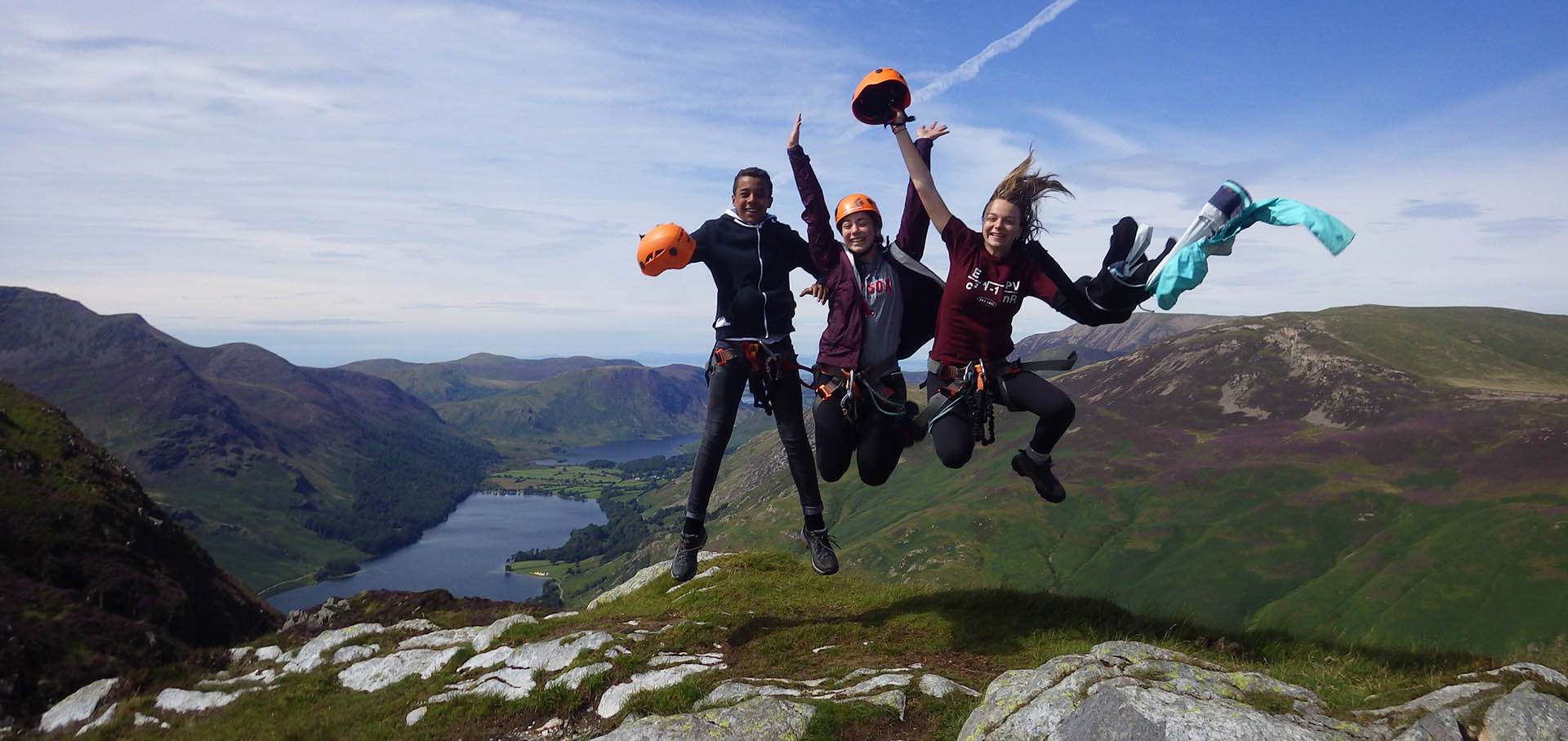 Jumping Via Ferrata at Honister