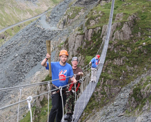 Honister Group walking the bridge
