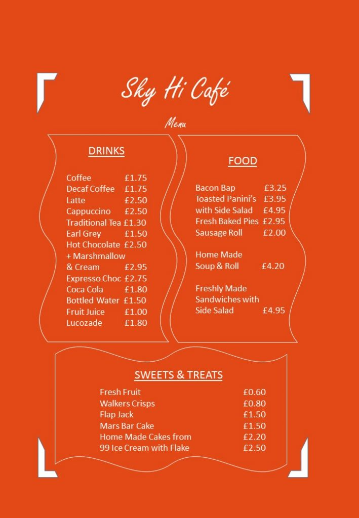 Sky Hi Cafe Menu