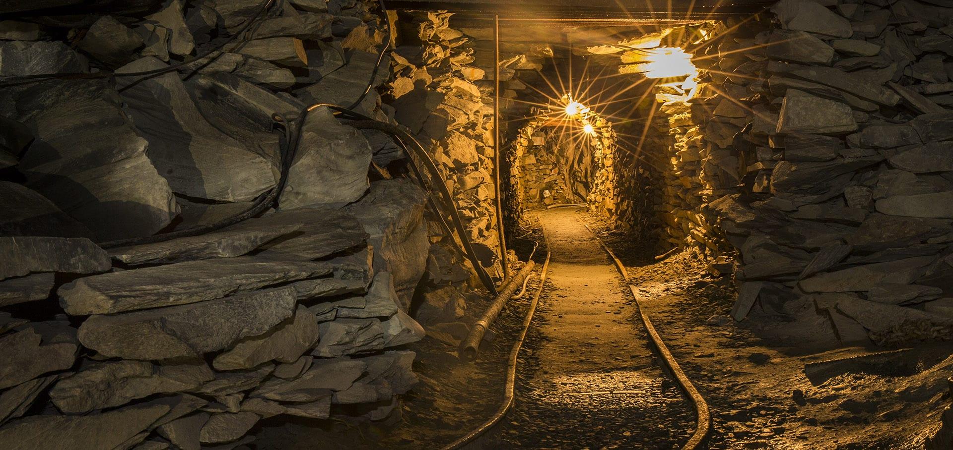 Inside Honister Slate Mine
