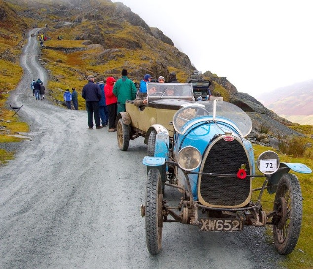 Vintage Car Rally at Honister Slate Mine
