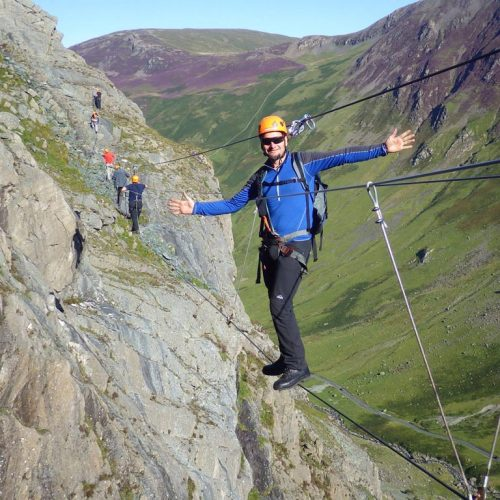 Via Ferrata Infinty Bridge at Honister