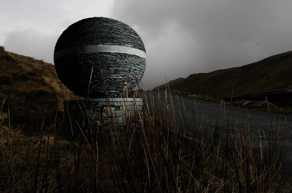 Green Slate Sculpture at Honister
