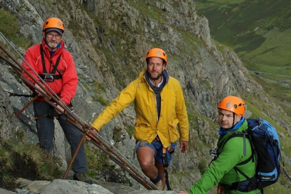 Ben Fogle doing the Via Ferrata at Honister